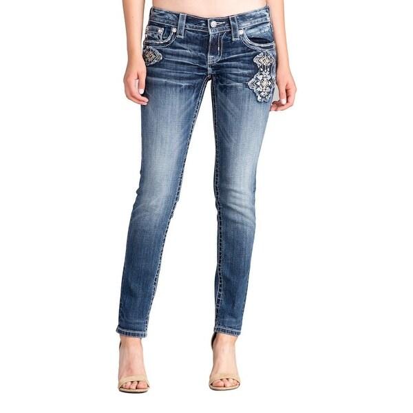 Miss Me Denim Jeans Womens Wild Energy Skinny Dark Blue MP8927S
