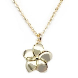 Julieta Jewelry Plumeria Flower Charm Necklace