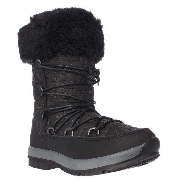 Bearpaw Leslie Fleece Lined Winter Boots, Black