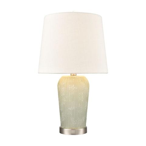 Prosper glass table lamp in Salted Seafoam