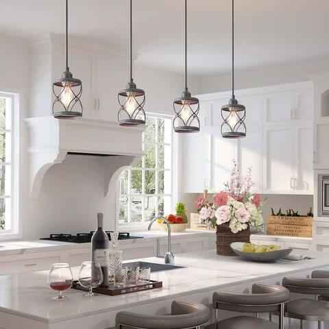 Modern Farmhouse 1-light Cage Metal Kitchen Island Pendant Light