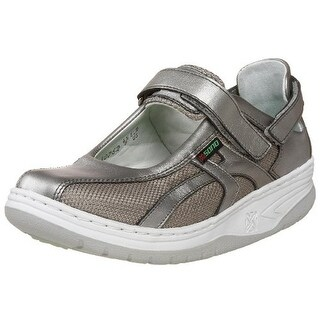 Mephisto Womens Leather Metallic Walking Shoes