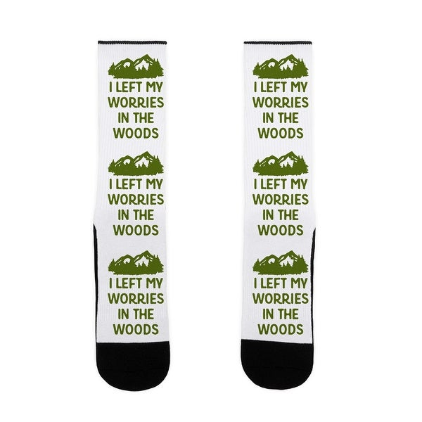 I Left My Worries In The Woods US Size 7-13 Socks by LookHUMAN
