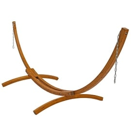 Sunnydaze Wooden Curved Arc Hammock Stand