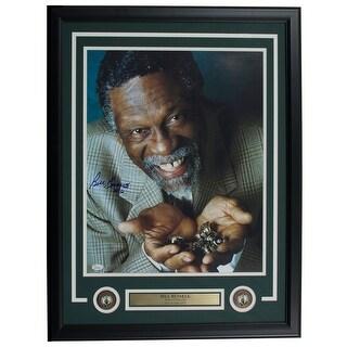 Bill Russell Boston Celtics Signed Framed 16x20 Championship Rings Photo JSA