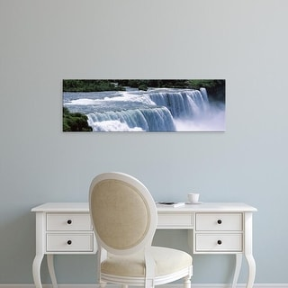 Easy Art Prints Panoramic Images's 'Waterfall, Niagara Falls, Niagara River, New York State, USA' Premium Canvas Art