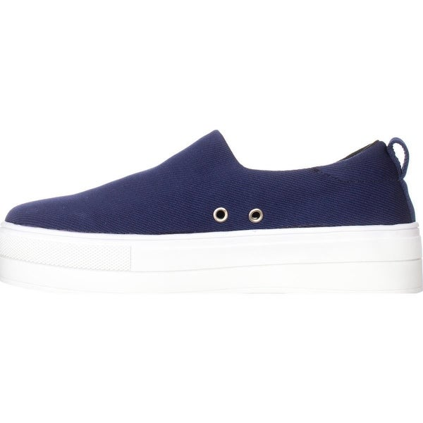 kensie Womens Deon Low Top Slip On Fashion Sneakers