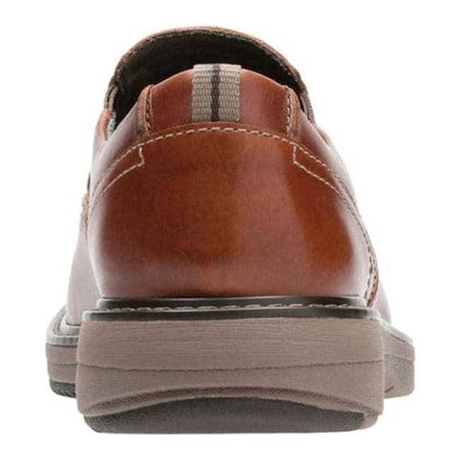 5de98f5d Clarks Men's Cushox Step Slip-On Dark Tan Full Grain Leather