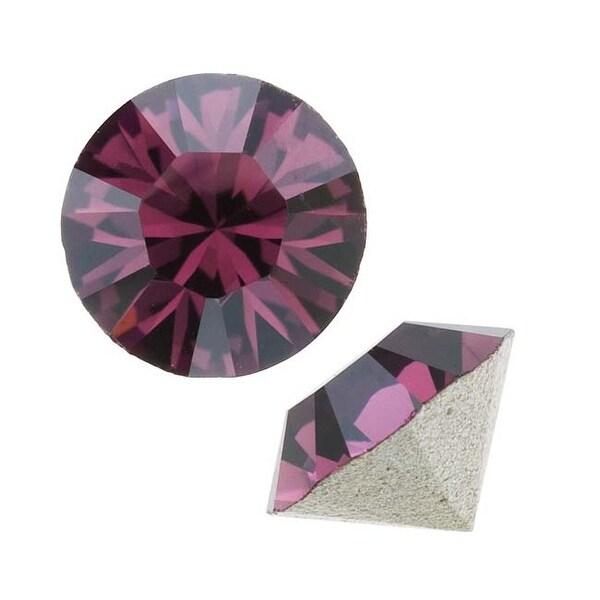 Swarovski Crystal, 1028 Xilion Round Stone Chatons pp10, 50 Pieces, Amethyst