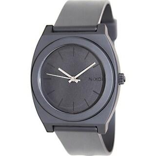 Nixon Men's Time Teller A119524 Black Polyurethane Quartz Fashion Watch
