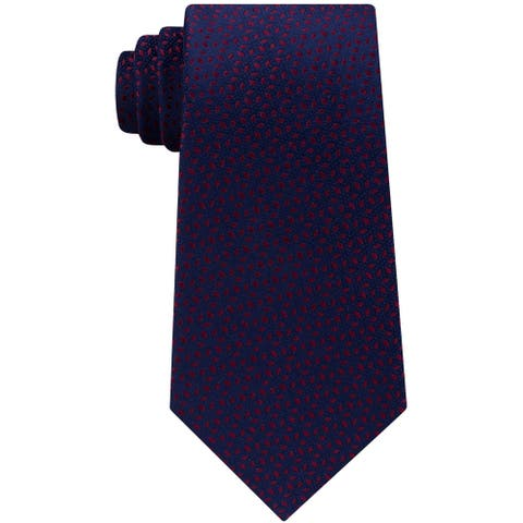 Michael Kors Mens Pindot Ground Self-Tied Necktie - One Size