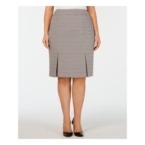 KASPER Black Below The Knee Pencil Skirt Size 18W