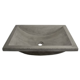 "Native Trails NSL2014 NativeStone Cabrillo 20-5/8"" Concrete Sink Drop In or Undermount Bathroom Sink"