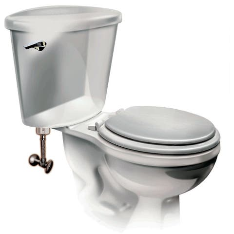 """Fluidmaster 4T12UCSR 12"""" Toilet Connector with Multiple Connection Sizes"""