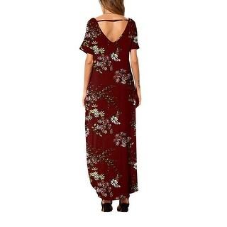 Link to Printed Women's Short Sleeve V-Neck Knit Long Skirt Casual Dress Similar Items in Dresses