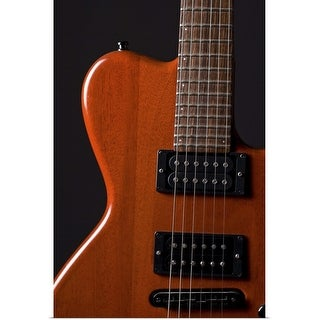 """Close-up of electric guitar"" Poster Print"