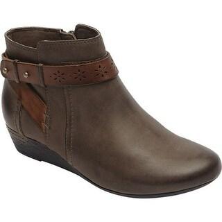 Rockport Women's Cobb Hill Joy Ankle Boot Stone Pigskin