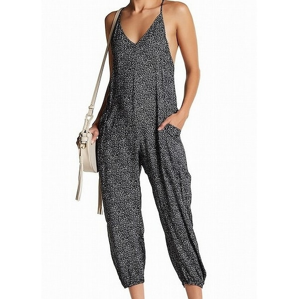 603e24bd165f Shop Dress Forum Black Womens Size Small S Abstract-Print Jumpsuit - Free  Shipping On Orders Over  45 - Overstock - 22410226