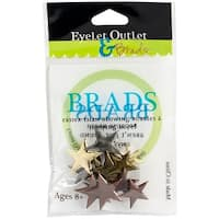 Eyelet Outlet Shape Brads 12/Pkg-Star