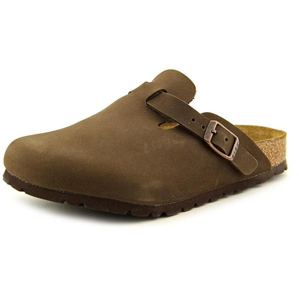Birkenstock Boston Youth N Open Toe Leather Brown Slides Sandal