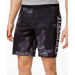 Reebok NEW Gray Black Mens Size 2XL Drawstring Crossfit Camo Shorts
