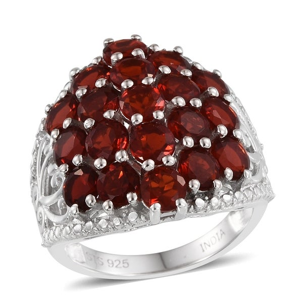 Black Rhodium Plated Natural RUBY RING in 925 Sterling Silver Beautiful Party Ring Ruby Diamond Cluster Ring Natural DIAMOND Ring