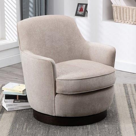 Rosedale Wood Base Swivel Accent Chair by Greyson Living