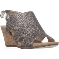 Bandolino Galedale Peep Toe Wedge Sandals, Gold