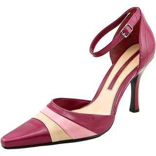 Enzo Angiolini Aggie Women Pointed Toe Leather Pink Heels