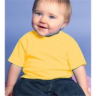 Rabbit Skins 3401 Infant Cotton T-Shirt - Yellow, Size 6