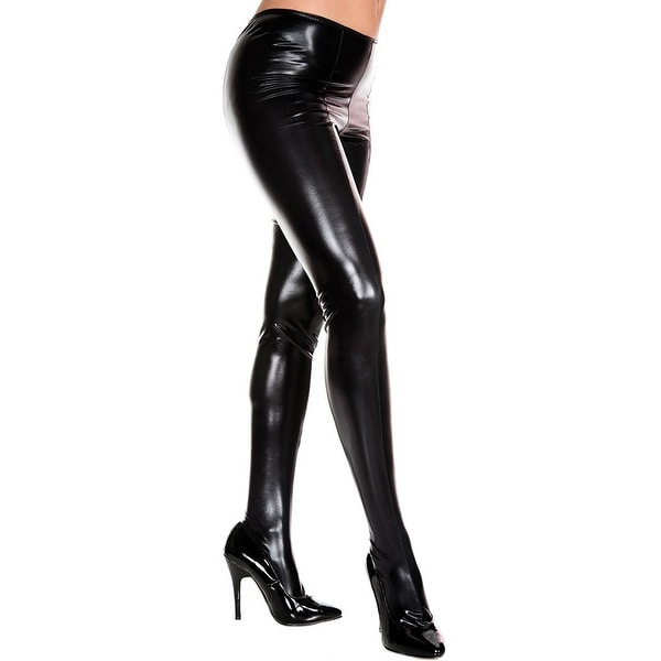 105b32f671380 Shop Daring Wet Look Leggings, Black Leggings - One Size Fits Most - Free  Shipping On Orders Over $45 - Overstock - 18768651