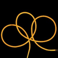 50' LED Commercial Grade Yellow Neon Style Flexible Christmas Rope Light