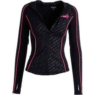 Juicy Couture Sport Womens Fitted Compression Athletic Jacket - XS