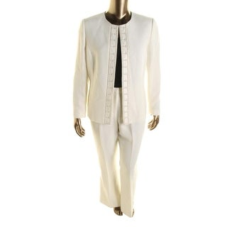 Tahari ASL Womens Danni Pant Suit 2PC Embellished