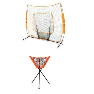 Bownet Baseball/Softball Big Mouth Portable Net w/ Batting Practice Caddy