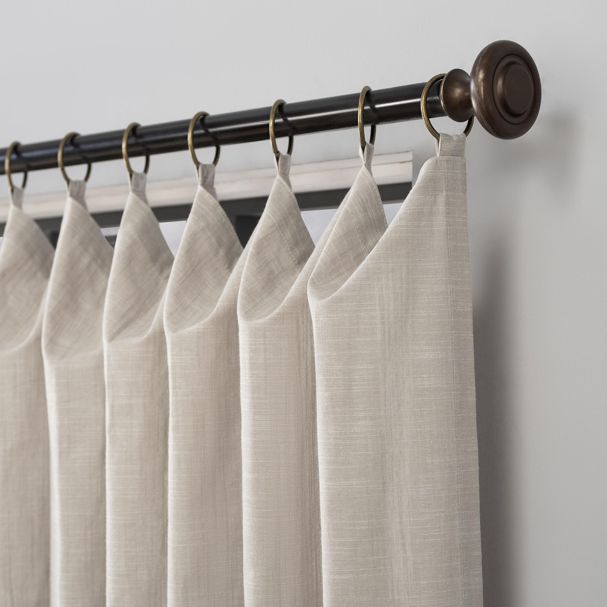 Scott Living Delton Stonewashed Cotton Semi Sheer Ring Top Curtain Panel Overstock 31580839