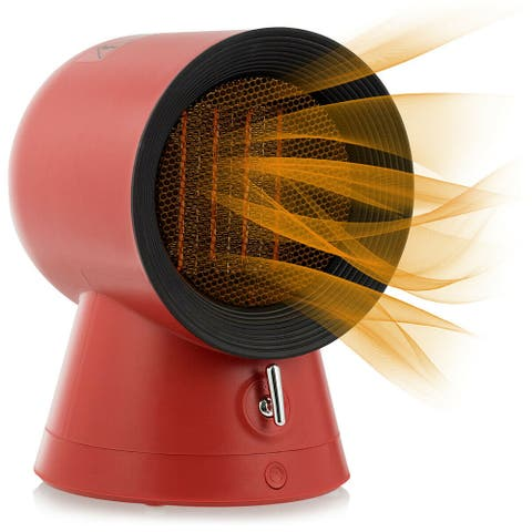 Gymax 1500W Portable PTC Ceramic Space Heater Mini Electric Desktop