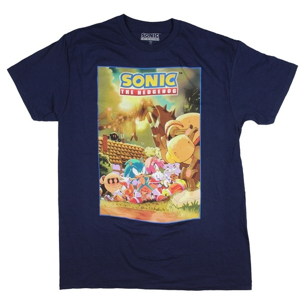 7362037843e7 Shop Sonic Hedgehog Shirt Costume Poster Men s Graphic Sonic Amy Rose Tails  Tee - Free Shipping On Orders Over  45 - Overstock - 25361632