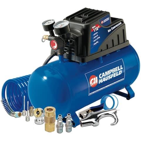 Campbell Hausfeld FP209499AV Horizontal Air Compressor, 3 Gallon - Blue