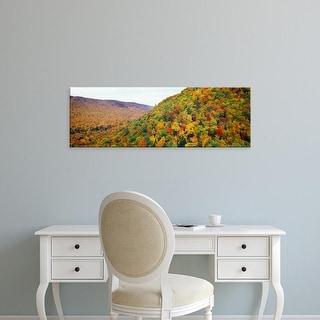 Easy Art Prints Panoramic Images's 'Mountain forest in autumn, Nova Scotia, Canada' Premium Canvas Art