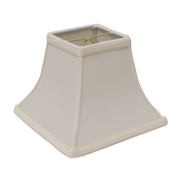 Cloth & Wire Slant Square Bell Hardback Lampshade with Bulb Clip, Egg. Opens flyout.