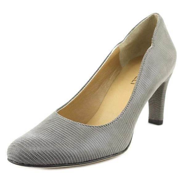 Vaneli Ursilla Women N/S Round Toe Canvas Gray Heels