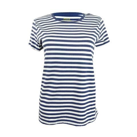Polo Ralph Lauren Women's Striped Cotton T-Shirt (S, Rustic Navy) - Rustic Navy - S