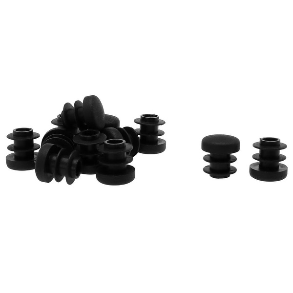 """1/2"""" 14mm OD Plastic Round Tube Ribbed Inserts End Cover Caps 12pcs"""