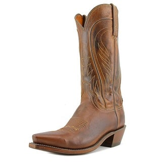 1883 By Lucchese N1596.54 Men 2E Square Toe Leather Brown Western Boot