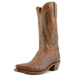 1883 By Lucchese N1596.54 Men B Square Toe Leather Brown Western Boot