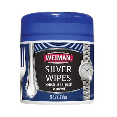 Weiman 48 Silver Wipes, 20 count