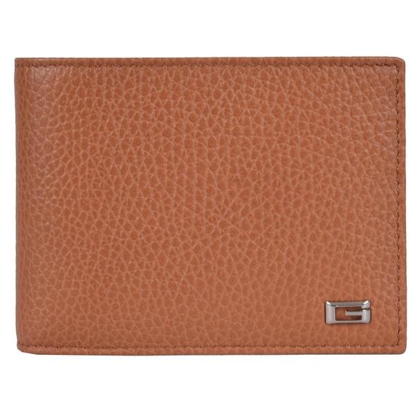 Gucci Men's 150403 Saffron Tan Leather G Logo Bifold Wallet W/Coin Pocket