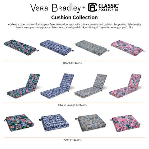 Vera Bradley by Classic Accessories Water-Resistant Patio Seat Cushion