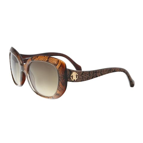 Roberto Cavalli RC828S 50F ALULA Brown/Gold Square Sunglasses - 53-20-135
